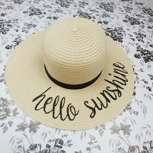 Hello Sunshine straw sun hat